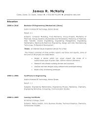 Entry Level Mechanical Engineer Job Position Cv Resume Sample