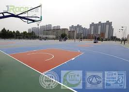 multi layer outdoor sport court surface safety rubber flooring simple color