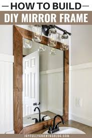 Mirror With Wood Frame Design How To Add A Diy Wood Frame To A Bathroom Mirror