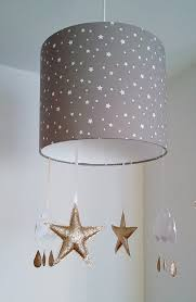 lamp shades nursery star lampshade cloud decor girl mobile taupe 0