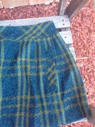 Designer Plaid Skirt Retro Designer Plaid Skirt Size 2 Adult