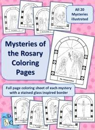 It's better to show their talent earlier so you can enhance it and develop it. Mysteries Of The Rosary Coloring Pages By Kristen Rabideau Tpt