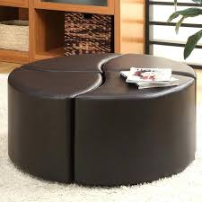 large round leather ottoman coffee table brown large round leather ottoman coffee table round large round