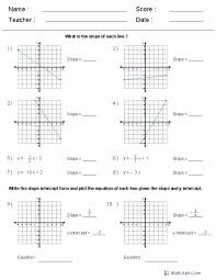 working with linear equations worksheets