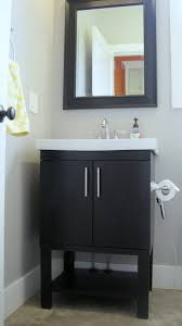 stylish modular wooden bathroom vanity. I Married A Tree Hugger Cheery Yellow And Grey Bathroom Stylish Modular Wooden Vanity