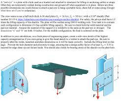 Pad Eye Design Calculations