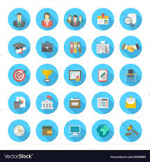 Modern Resume Icon Round Flat Resume Icons Royalty Free Vector Image