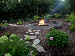 The arrangement of pavers can point people in the right direction in a  yard. These. Rustic Fire PitsStone Fire ...