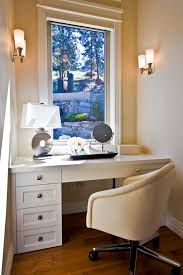 white leather office chair bedroom contemporary with desk mirror stacked stone image by begrand fast design inc
