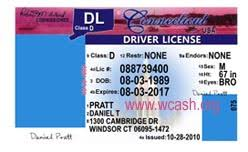 Connecticut Template License Drivers Photoshop