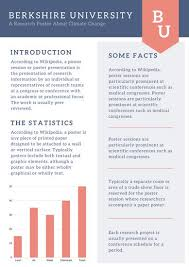 Dark Blue And Orange Simple Research Poster Templates By Canva