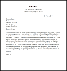 Cover Letter Examples Resume Professional Construction Laborer Cover