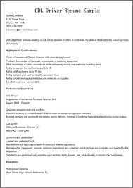 Resume Driver Resume Sample
