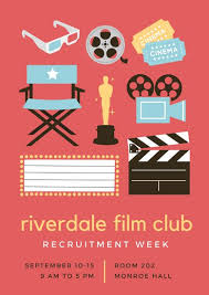 School Poster Designs Film Club School Poster Templates By Canva