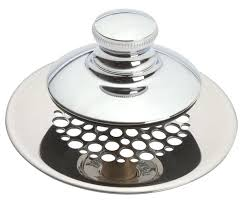 1 of 4 available bathtub drain stopper stuck in pipe push pull grid strainer