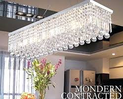 full size of linear crystal chandelier dining room antique bronze rectangular ceiling fixture light rectangle fashion