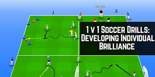1v1 soccer drills developing