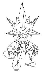 Sonic The Werehog Coloring Pages Awesome Metal Sonic Coloring Page