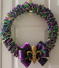 diy mardi gras bead wreath