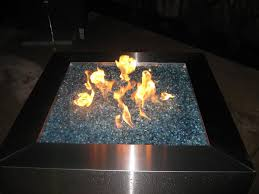 outdoor enjoyable colored fire pit glass