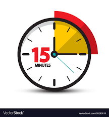 Timer Fifteen Minutes 15 Minutes Clock Icon Fifteen Minute Symbol