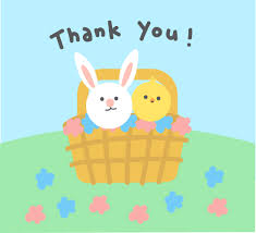 Thank You Easter Easter Basket Just For You Free Thank You Ecards Greeting
