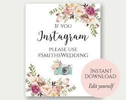 Instagram Wedding Sign If You Instagram Sign Instagram