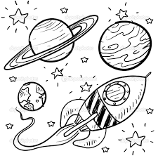 Small Picture Planet coloring pages planets rocket stars Outer space Pinterest