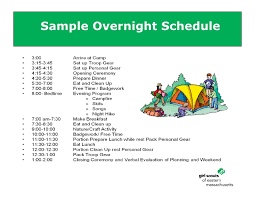 Girl Scout Camping Kaper Chart Template Planning A Camping Experience