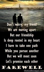 Saying Goodbye To A Friend Farewell Quotes For Friendship Amazing Goodbye Friendship