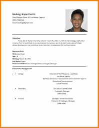 Latest Curriculum Vitae Format Application Vitaejob Cv Sample Resume