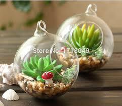 2018 whole glass orb planter vases hanging globe terrarium kit glass globe terrarium