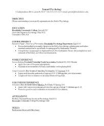 Resume Sample Graduate Psychology Sample Resume Psychology Resume