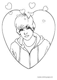 Small Picture Justin Bieber Coloring Pages To Print Book Eassume Image