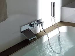 waterfall bathtub amazing wall mount waterfall faucet for stylish bathroom wall throughout wall mounted bathtub faucets
