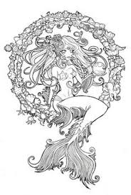Small Picture httpcoloringscoswimming mermaid coloring pages for adults