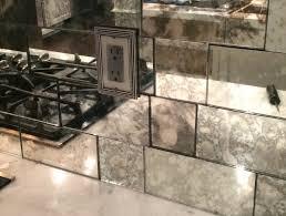 Mirror Tile Backsplash Kitchen Interior Decoration Mirrored Subway Tile Backsplash And Mirror