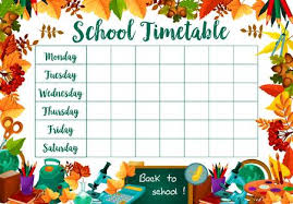 School Timetable Stock Photos And Images 123rf