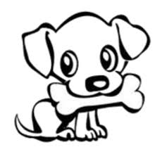 cute dog clipart black and white.  And Dog Bone Drawings Group 59 Vector Freeuse Stock To Cute Clipart Black And White L