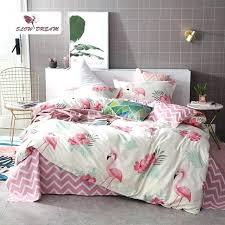 pastel crib bedding sets cartoon flamingo set underwear double bed sheet linen duvet cover bedspread