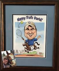 here s a couple of missions gift caricatures one is a retirement caricature for the president of johns hopkins university