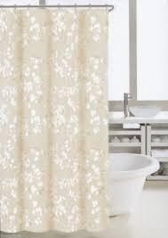 Modern Beige Shower Curtains Nicole Miller Fabric Cotton Blend Curtain Graphic Throughout Models Ideas