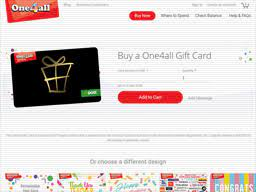 one4all gift card balance check