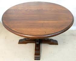 pedestal coffee table round oak coffee tables round solid oak pedestal coffee table sold round oak
