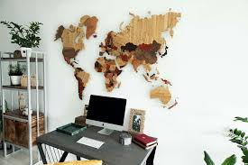 Все карты > <b>Карта мира</b> из разных пород дерева купить в ...