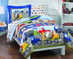 dream factory trucks tractors cars boys 5 piece comforter sheet set