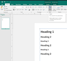 Microsoft Publisher Format Format Headings In Microsoft Word Administrative