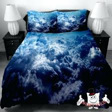unique bedding sets blue surging clouds galaxy unique bedding set and quilt cover visit funky bedding