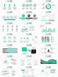 Creative Light Coloured Powerpoint Charts Infographics