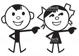 男の子と女の子の漫画のキャラクター イラストレーションのベクター
